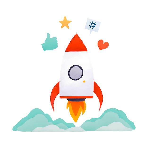Trending op sociale media vector Gratis Vector