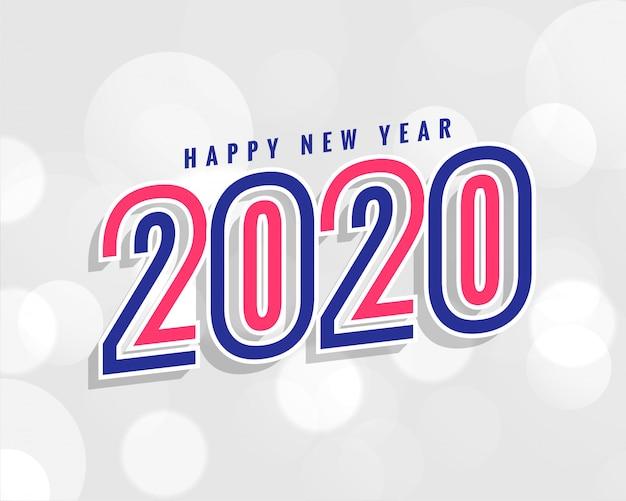 Trendy 2020 nieuwe jaarachtergrond in stijlvol Gratis Vector