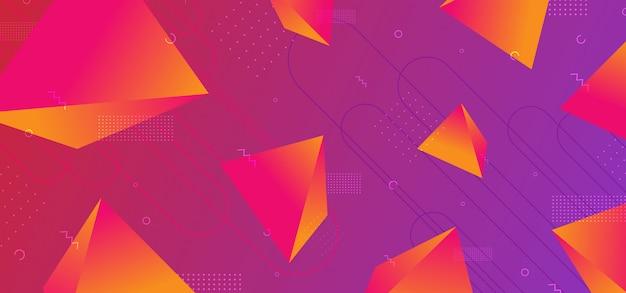 Trendy 3d geometrische abstracte achtergrond Premium Vector