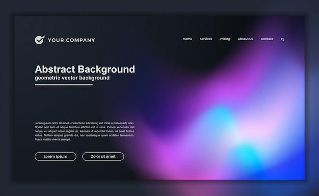 Trendy abstracte vloeibare achtergrond Premium Vector
