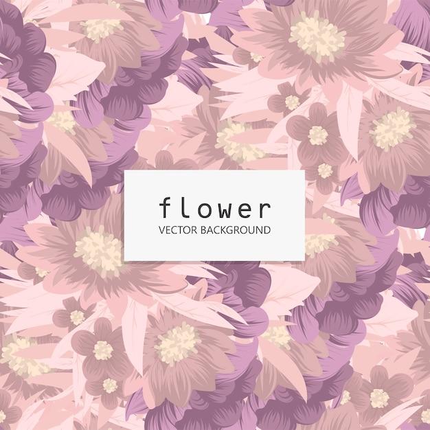 Trendy bloemen naadloze patroon Gratis Vector