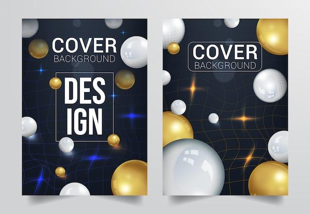Trendy cover achtergrond Premium Vector