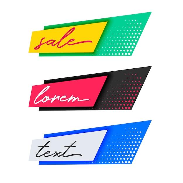 Trendy mode verkoop banners ontwerp Gratis Vector