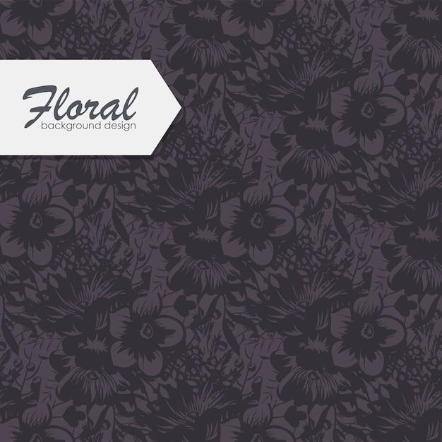 Trendy naadloze bloemmotief Gratis Vector