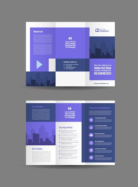 Tri-fold brochure Premium Vector