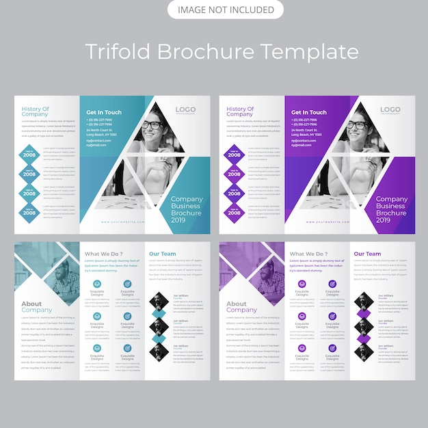 Tri-fold handoutsjabloon Premium Vector