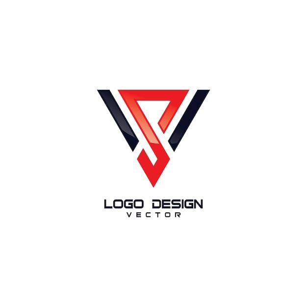 Triangle s symbol logo design Premium Vector