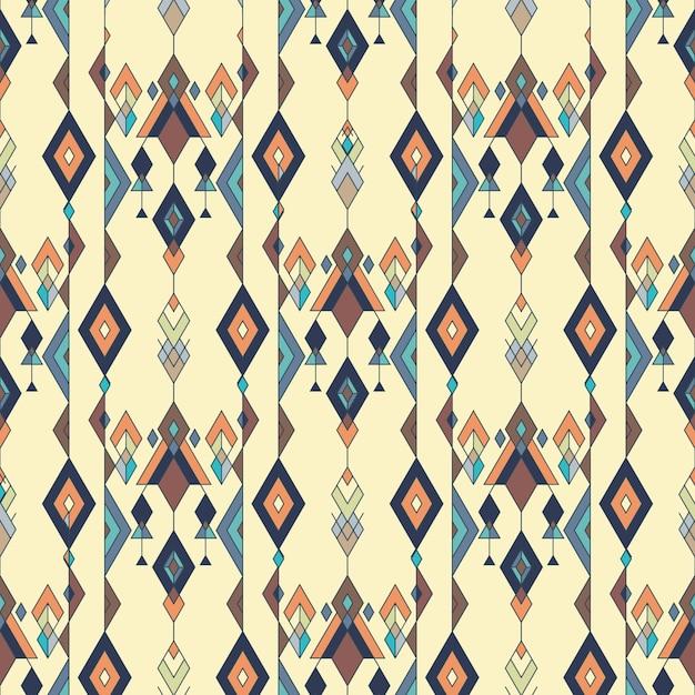 Tribal vintage etnische naadloze patroon. azteekse, mexicaanse, navajo, afrikaans motief. Premium Vector
