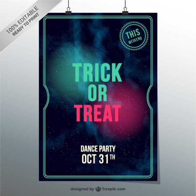 Trick or treat dance party vector Gratis Vector