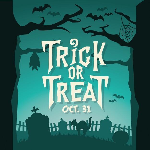 Trick Or Treat Halloween Achtergrond 277 Elk