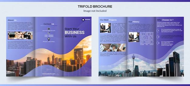 Trifold zakelijke brochure design Premium Vector