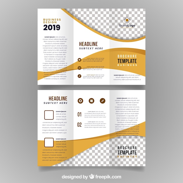 Trifold zakelijke brochure sjabloon Gratis Vector