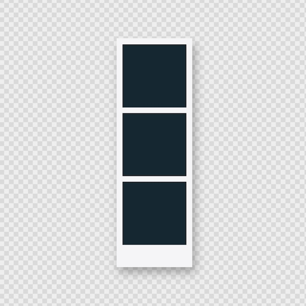 Triple polaroid-fotolijst Gratis Vector