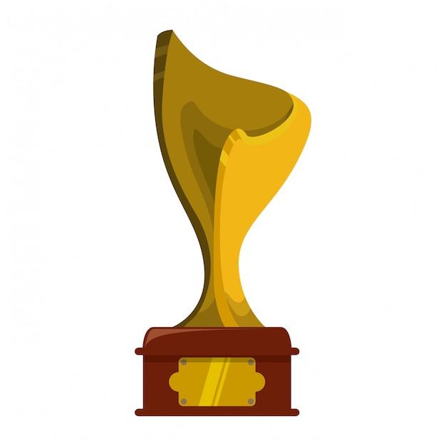 Trofee ontwerp Premium Vector