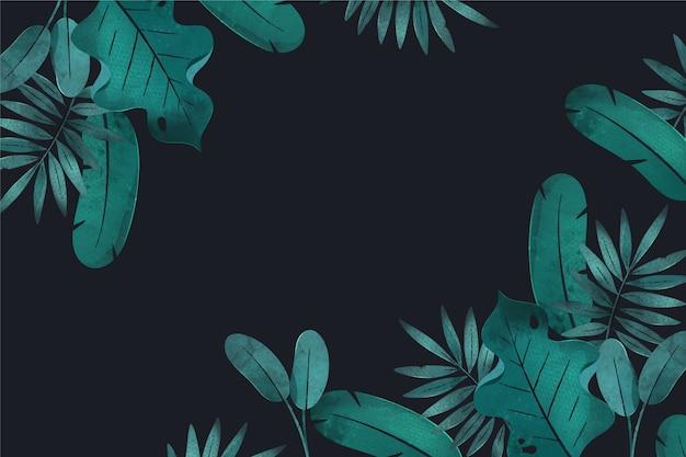 Tropisch behang met lege ruimte Premium Vector