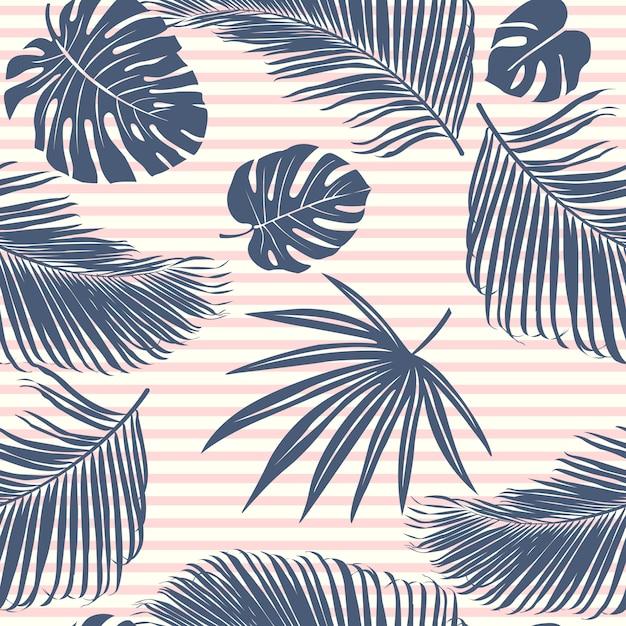 Tropisch bos van de zomermarine Premium Vector