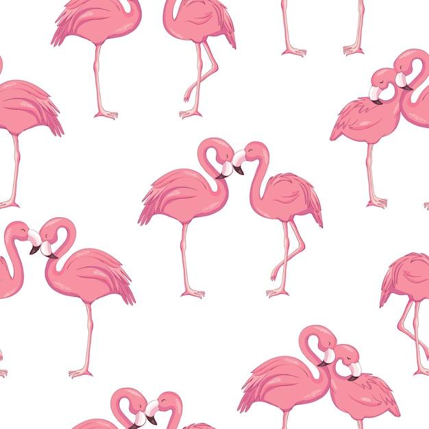 Tropisch flamingo naadloos patroon Premium Vector