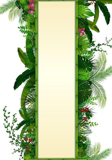 Tropische achtergrond Premium Vector
