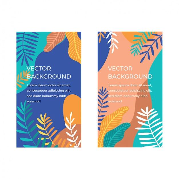 Tropische banner collectie Premium Vector