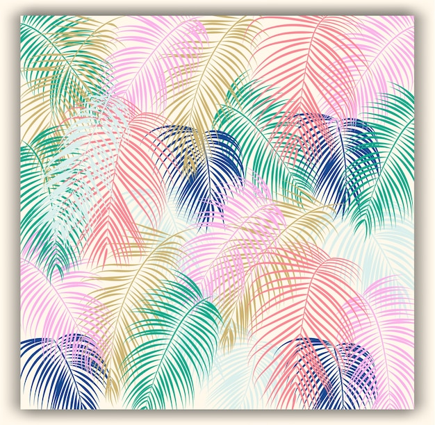 Tropische bloemen naadloze vectorpatroonachtergrond. Premium Vector