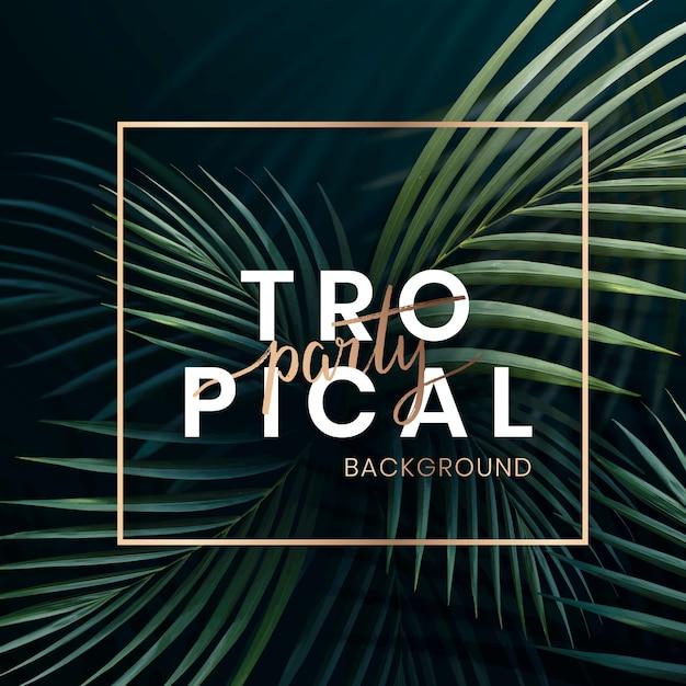 Tropische feestaffiche Premium Vector