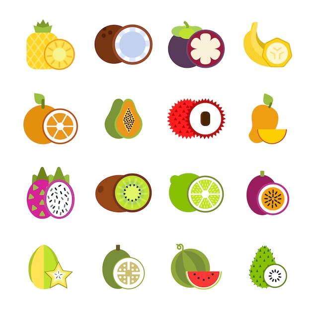 Tropische vruchten Premium Vector