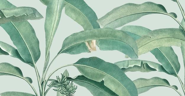 Tropische zomer patroon illustratie Gratis Vector