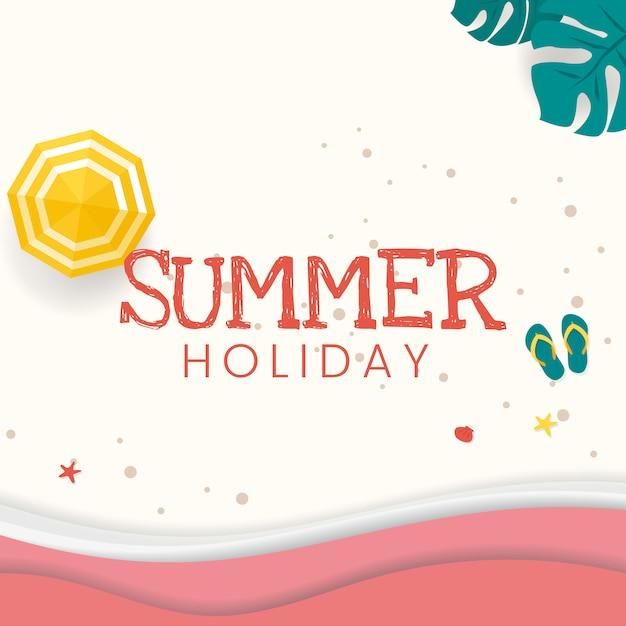 Tropische zomervakantie Gratis Vector