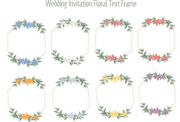 Trouwkaarten, trouwkaarten of bloemenbrieven Premium Vector