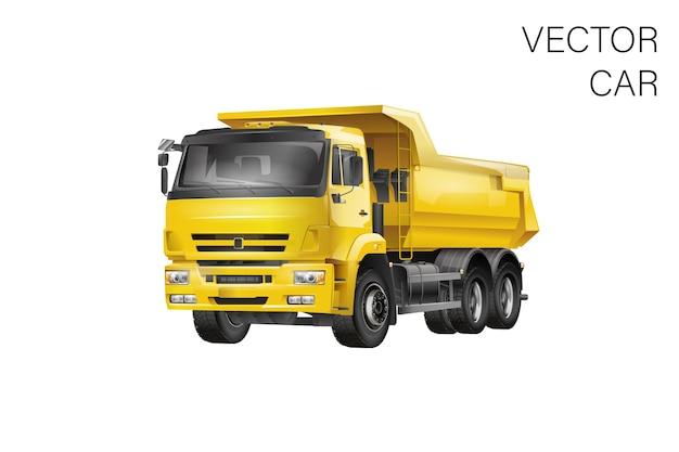 Truck illustratie Premium Vector