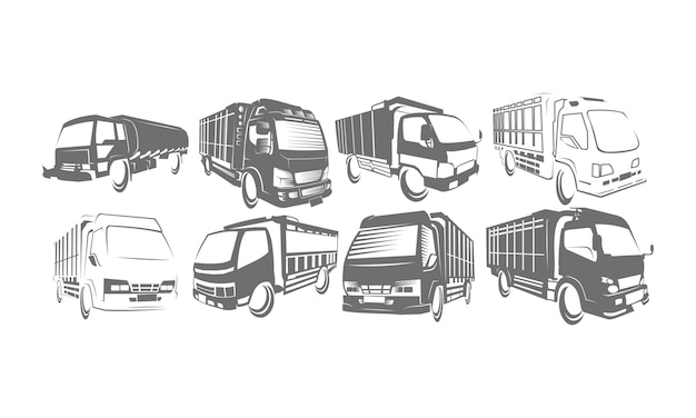 Truck logo set collections Premium Vector
