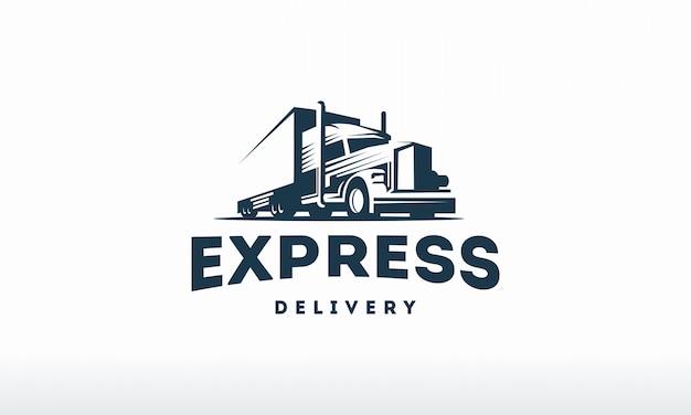 Truck logo sjabloon Premium Vector