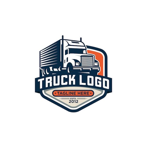 Truck logo vector stock afbeelding Premium Vector