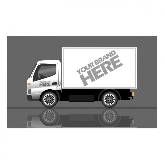 Truck voor het merk Gratis Vector