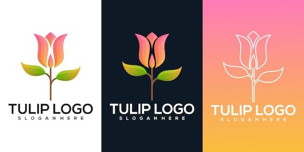 Tulip bloem illustratie Premium Vector