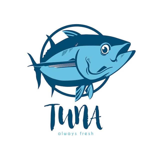 Tuna logo template ontwerp Gratis Vector
