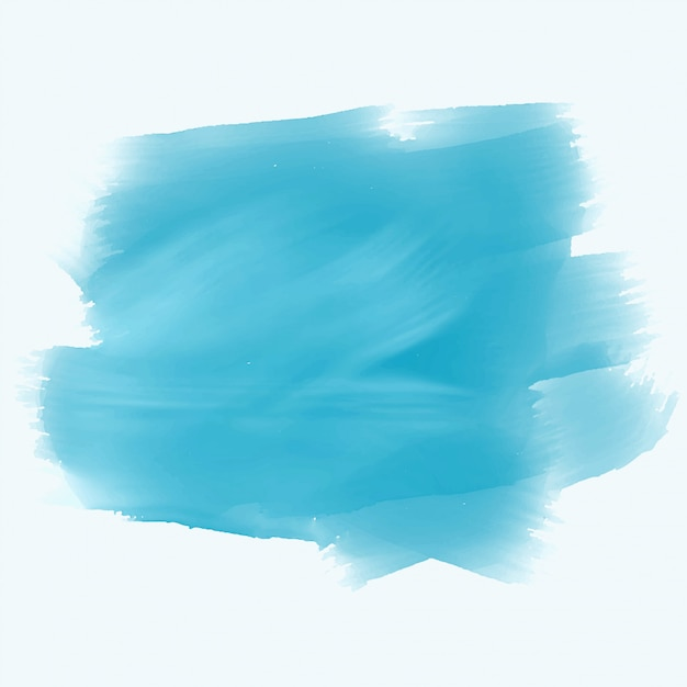 Turquoise aquarel penseelstreek achtergrond Gratis Vector