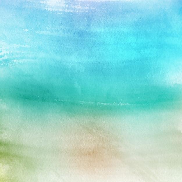 Turquoise aquarel textuur Gratis Vector