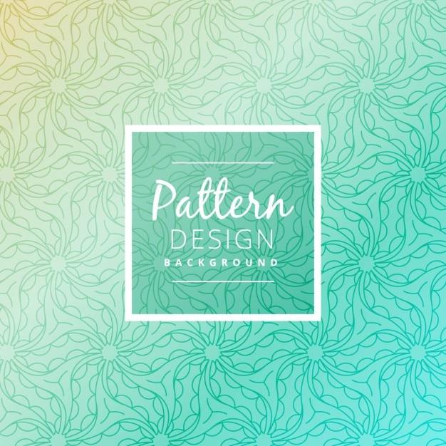 Turquoise patroon achtergrond Gratis Vector