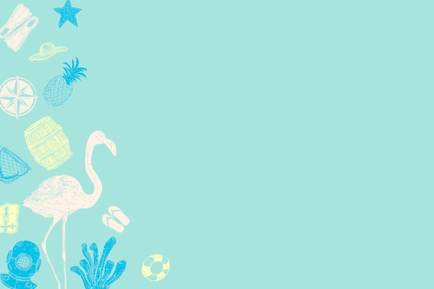 Turquoise zomer achtergrond Gratis Vector