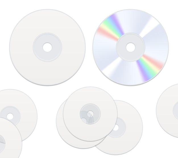 Twee geïsoleerde kanten cd-schijven Gratis Vector