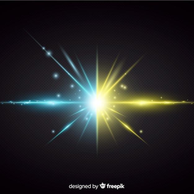 Twee krachten lichteffect realistische stijl Gratis Vector