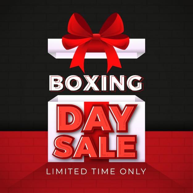 Tweede kerstdag verkoop banner Premium Vector