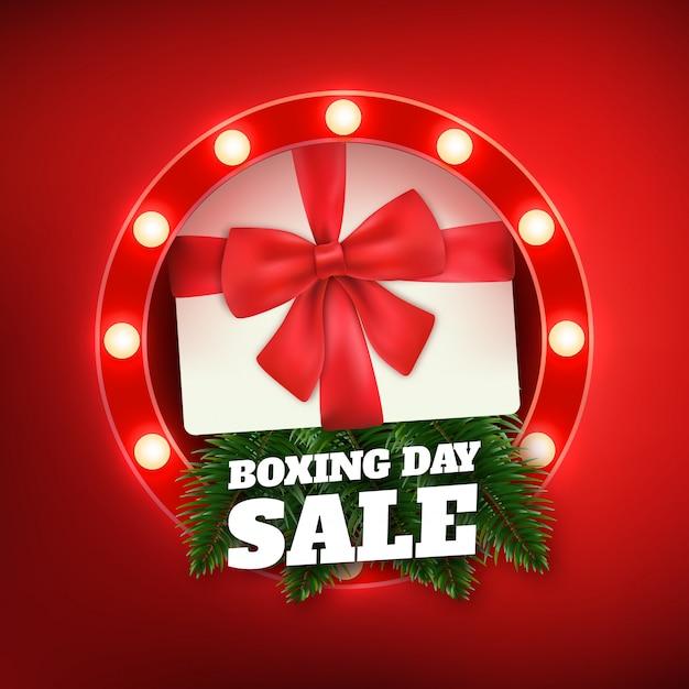 Tweede kerstdag verkoop Premium Vector