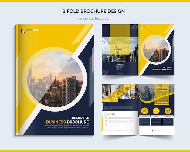 Tweevoudige zakelijke brochure Premium Vector