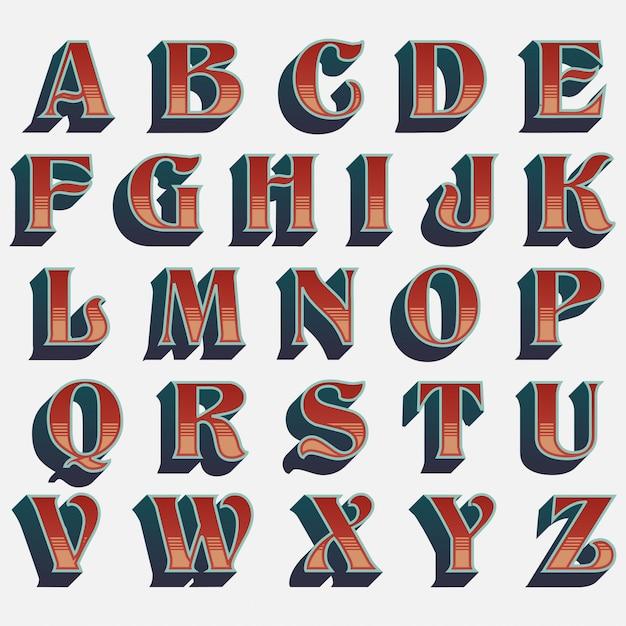 Typografie van de oude school de westelijke stijl Premium Vector