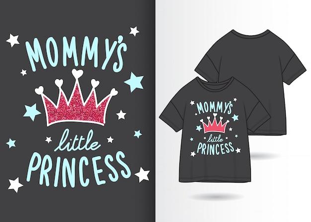 Typografieslogan met t-shirtontwerp Premium Vector