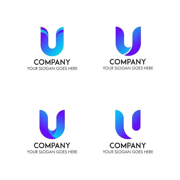U bedrijfslogo bedrijfssjabloon Premium Vector