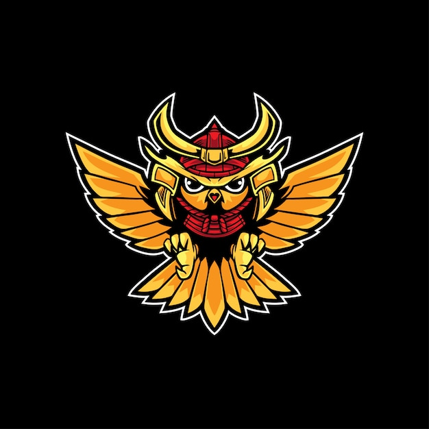 Uil samurai-logo Premium Vector