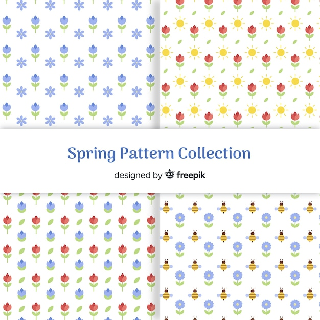 Uiterst kleine bloemenpatroon met een veerpatroon Gratis Vector
